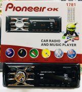 1781 Магнитола PioneeirOK +USB+AUX+Радио