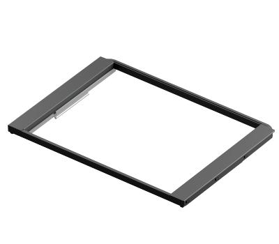 Рамка выдвижная с доводчиком, серия 460, L=607, чёрный
