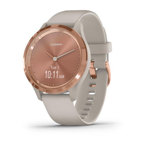 Часы Garmin VIVOMOVE 3S розовое золото с песочным ремешком