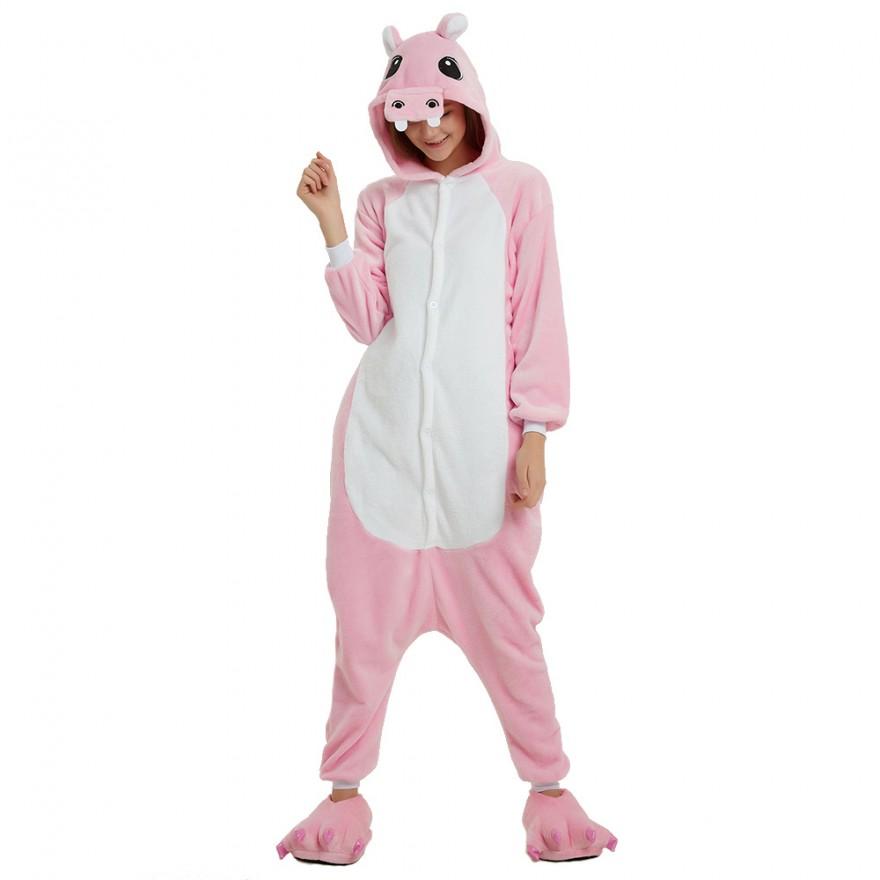 Пижама Кигуруми Бегемот Розовый