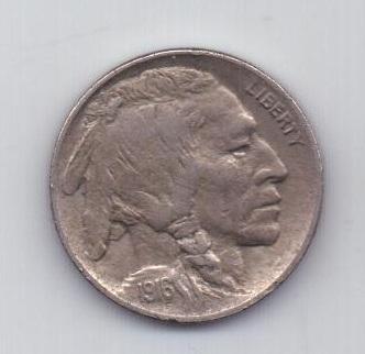 5 центов 1916 года AUNC редкий год США