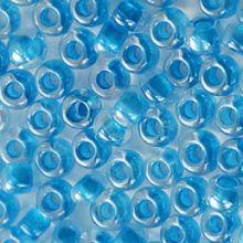 Бисер чешский 38165 прозрачный голубая линия внутри Preciosa 1 сорт