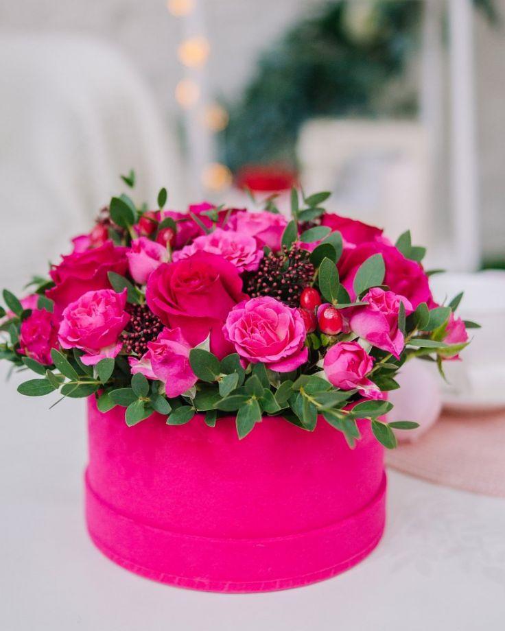 """Коробка с цветами """"Мелодия чувств"""""""