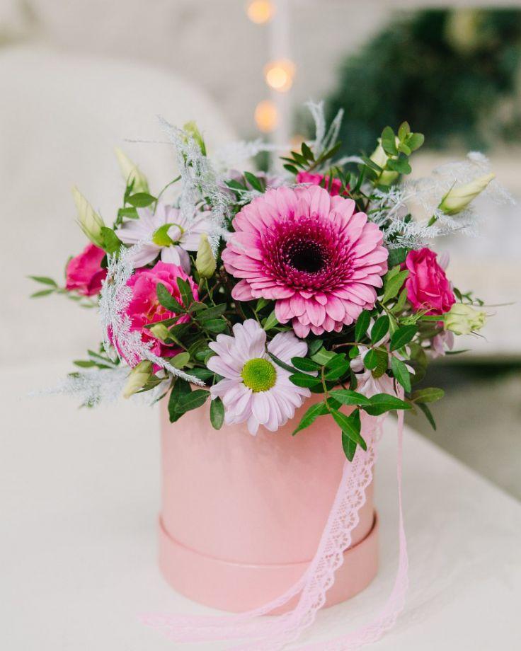 "Коробка с цветами ""Улыбка"""