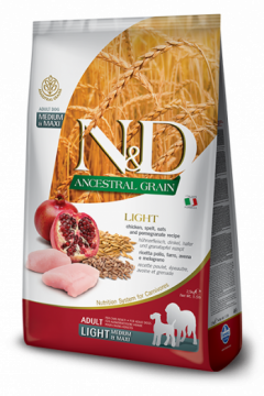 N&D Low Grain LIGHT CHICKEN & POMEGRANATE Adult medium&maxi (курица+гранат для собак с лишним весом средних и крупных пород)