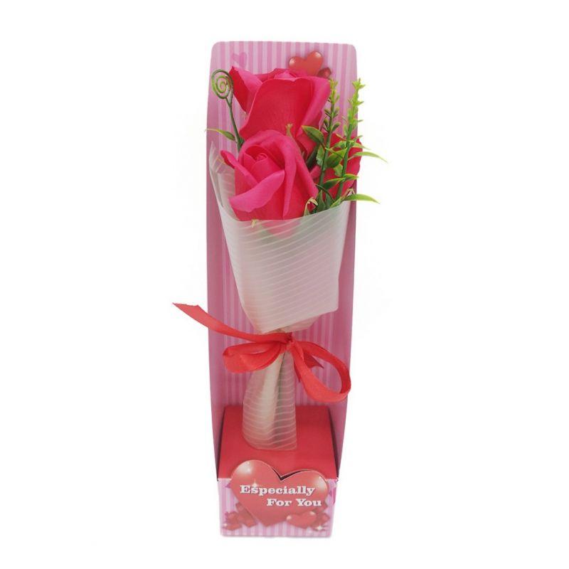 Букет мыльных роз (цвет красный)