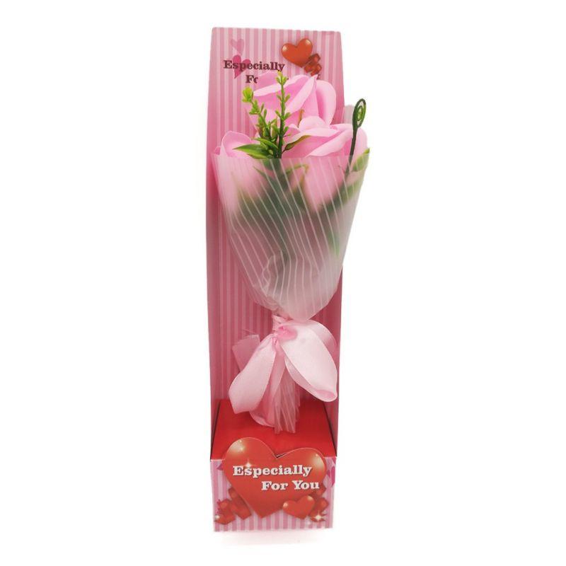 Букет мыльных роз (цвет розовый)