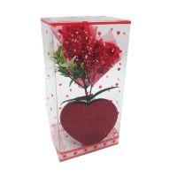 Букет мыльных роз и Сердце (цвет красный)_3