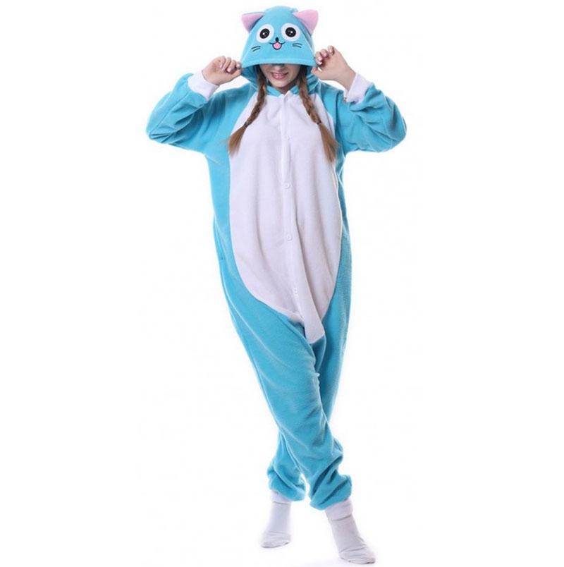 Пижама Кигуруми Кот Голубой