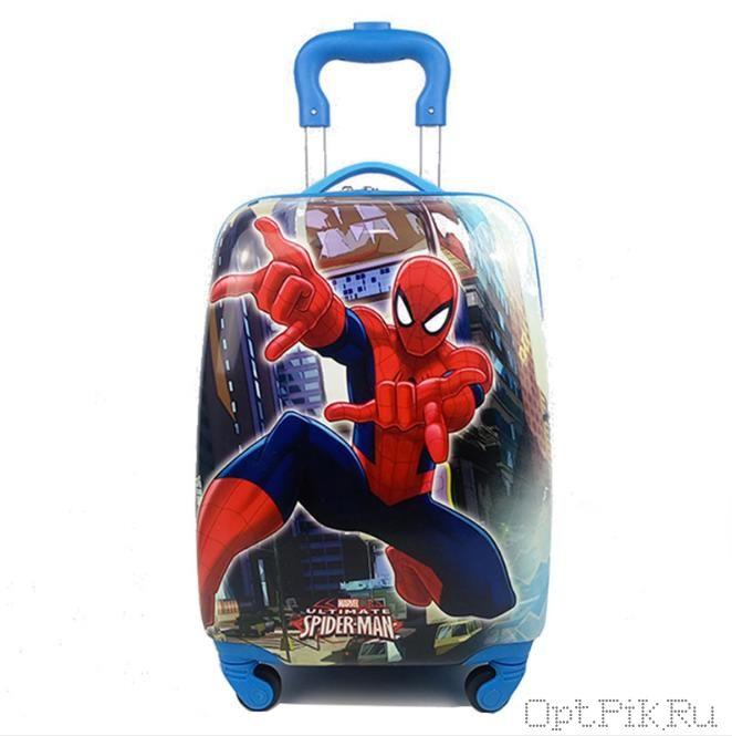 Чемодан детский человек паук 47x33x23 см