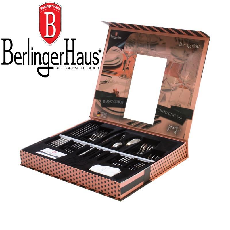 Столовые приборы 24пр Berlinger Haus BH-2150 Black Royal