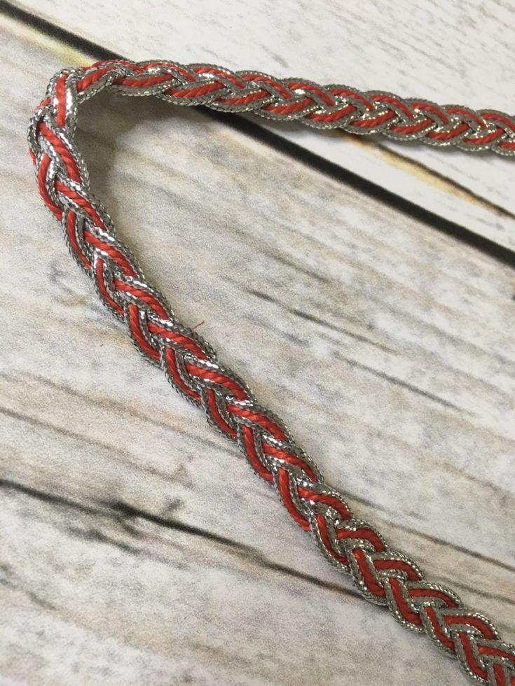 Красное серебро Косичка декоративная