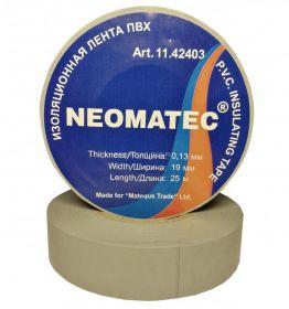 Изолента NEOMATEC 0.13 х19 мм х 25 м белая