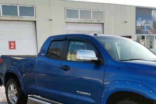 Дефлекторы боковых окон Toyota Tundra Double Cab (2007-) (4шт.) (темн.) Дабл КАБ
