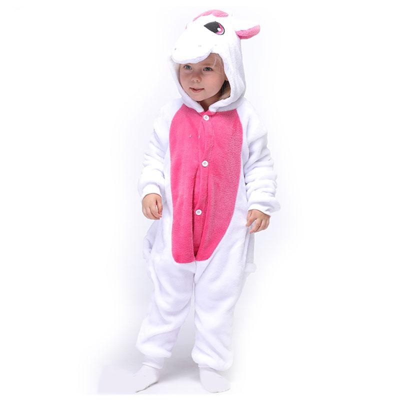 Детская Пижама Кигуруми Единорог Розовый
