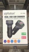 CU-503 Автомобильное зарядное устройство 2 USB/ 2.4A (Удлиненное)