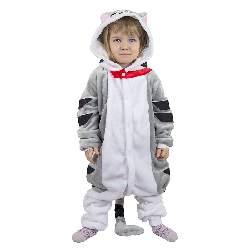 Детская Пижама Кигуруми Кот Серый