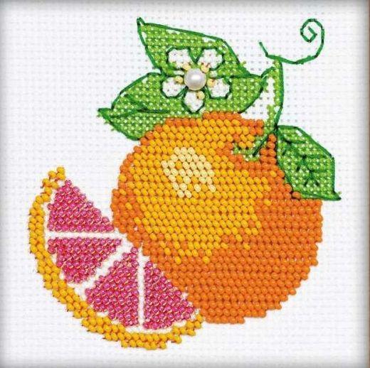Набор для вышивания бисером Апельсин №1263 фирма Риолис