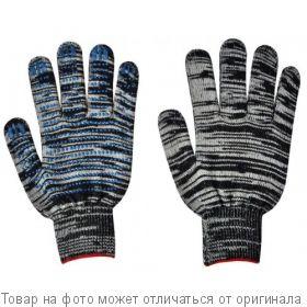 Перчатки Х/Б 10 класс,5 ниток с ПВХ КИРПИЧ ЛЮКС Графит 10 пара/упак, шт
