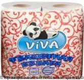 """Туалетная бумага """"VIVA"""" 4 рулона 2слоя белая, шт"""