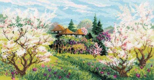 Набор для вышивания крестом Яблоневый сад №1275 фирма Риолис