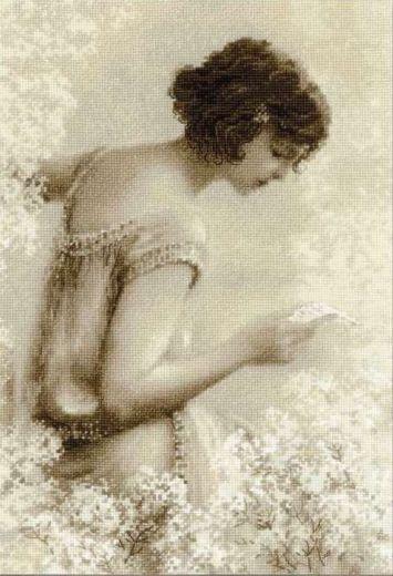 Набор для вышивания крестом Старая фотография. Письмо №1277 фирма Риолис