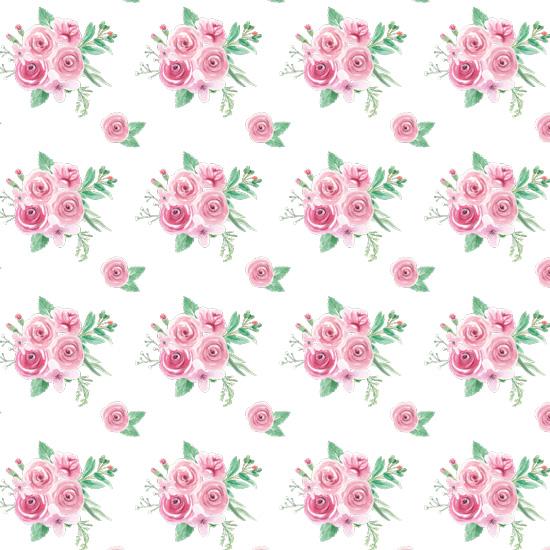 Лимитированная коллекция Арт-ткани Хлопок Сатин Розы на белом