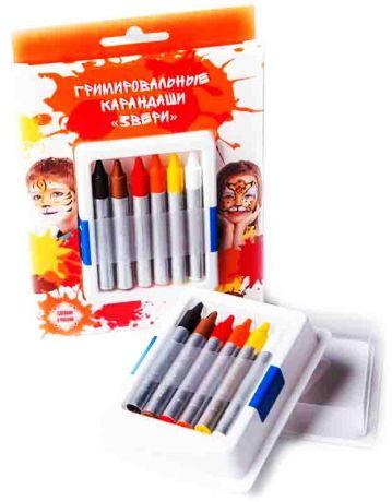 Гримировальные карандаши (6 цветов)