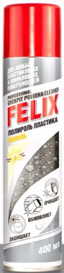 Полироль пластика Felix аэроз. Ваниль 400 мл
