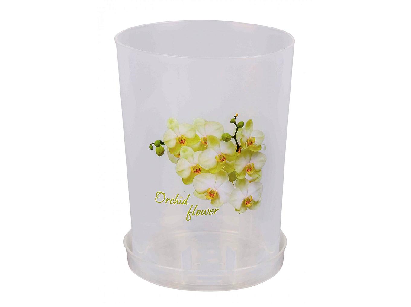 Горшок цв. для орхидеи 3,5л. с под. (прозр.) М1606