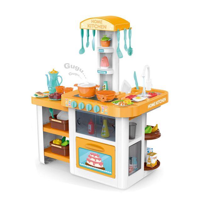 889-64 Кухня игровой набор с водой светом звуком 55 аксессуаров Home Kitchen Модерн-6