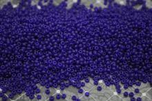 Бисер чешский 30100 прозрачный темно-синий матовый Preciosa 1 сорт