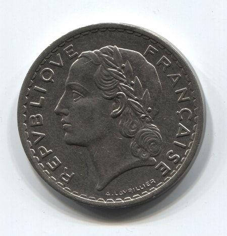5 франков 1935 года Франция