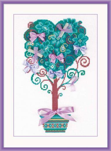 Набор для вышивания крестом Дерево желаний №1462 фирма Риолис