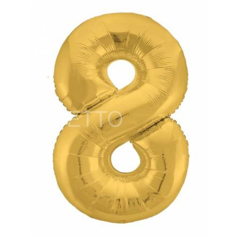 """Цифра """"8"""" Slim Золото"""