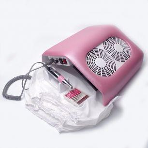 Фрезер - настольный пылесос 2 в 1. 290А/Розовый.