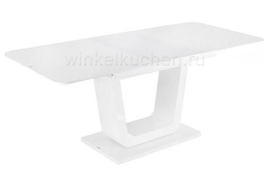 Стол стеклянный Vlinder 140 super white