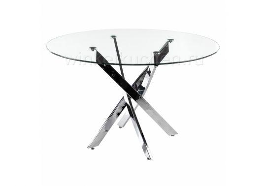 Стол стеклянный Komo 90 Chrome