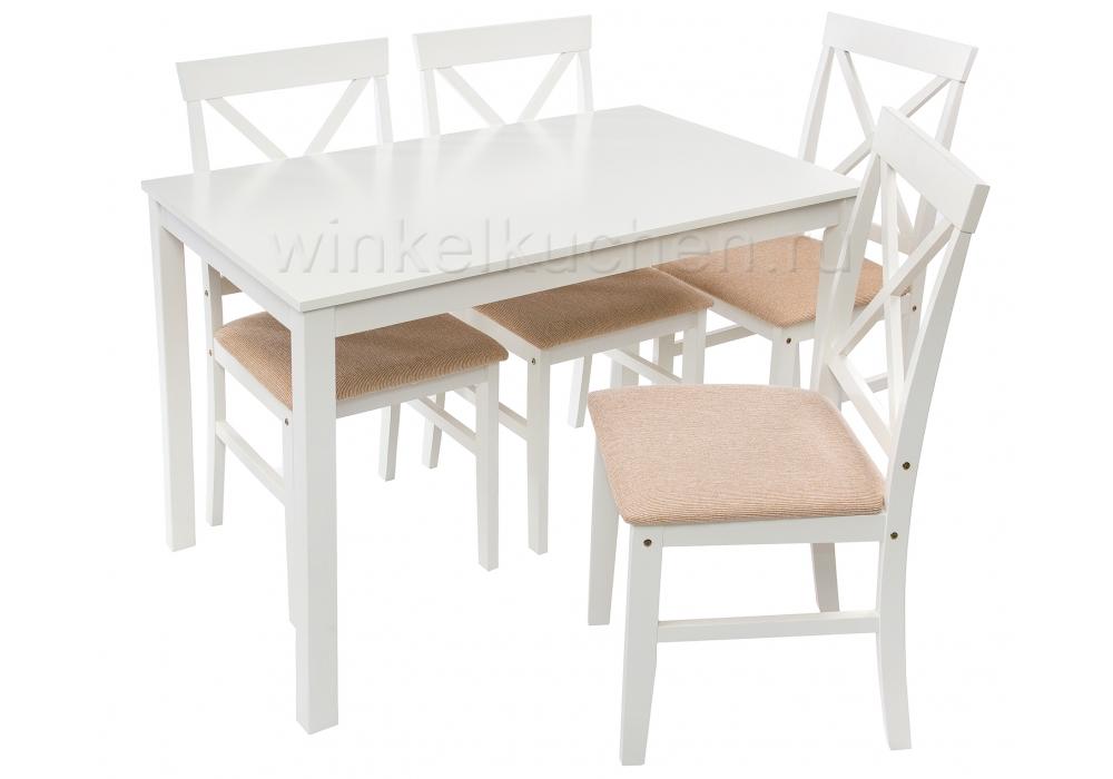 Chili (стол и 4 стула) buttermilk / beige