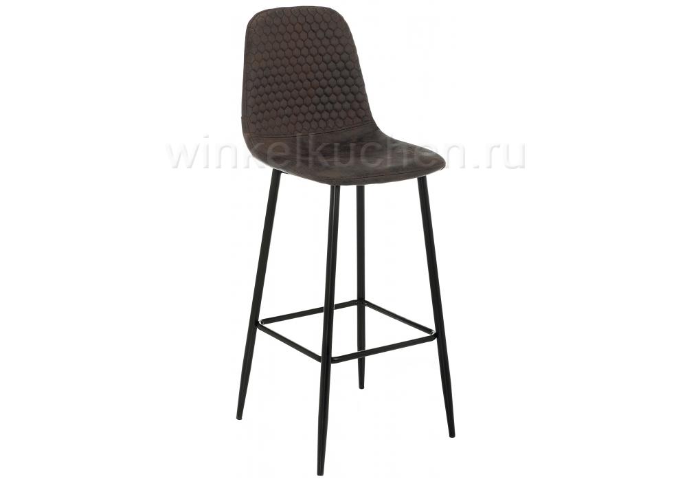 Барный стул Drop black / dark brown