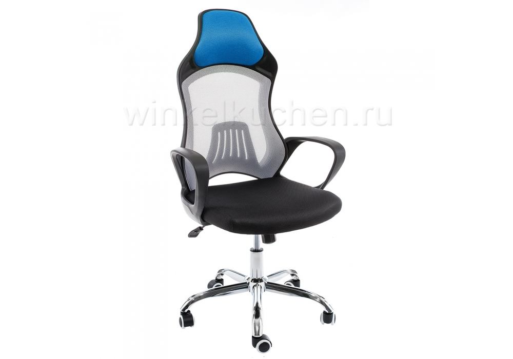 Компьютерное кресло Atlant белое / черное / голубое