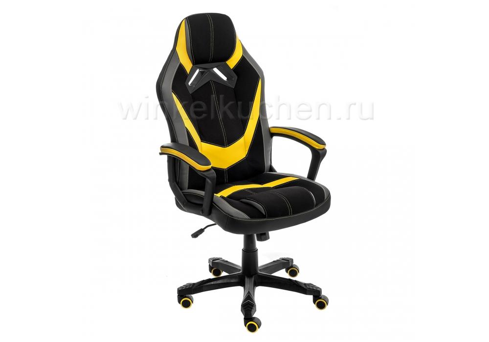 Стул Bens черное / серое / желтое