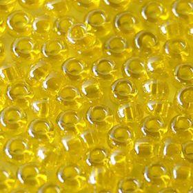 Бисер чешский 86010 прозрачный лимонный блестящий Preciosa 1 сорт