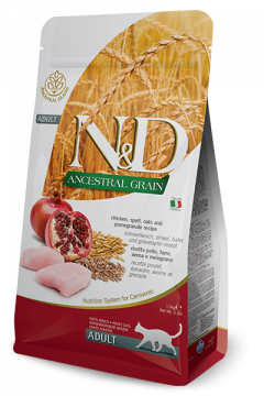 N&D Low Grain Cat Chicken & Pomegranate Adult (курица+гранат для взрослых кошек)