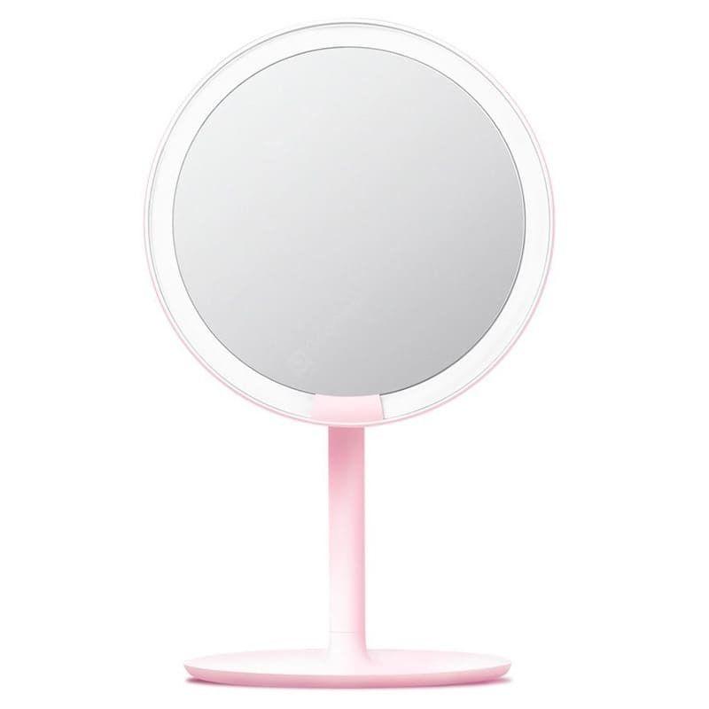 Зеркало косметическое настольное Xiaomi Amiro Lux High Color ( Розовое, AML004W ) с подсветкой EU