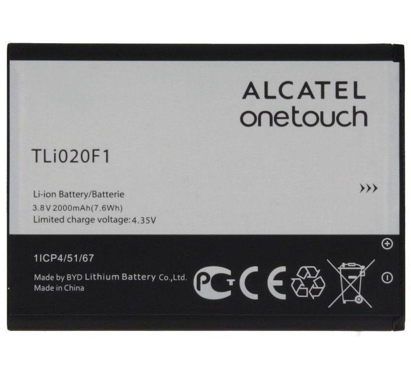 Аккумулятор Alcatel 4045D POP 2 (4)/5010D Pixi 4 (5)/5022D One Touch POP Star/5042D POP 2/5044D U5/5045D Pixi 4 (5)/6036Y OneTouch Idol 2 Mini S/7040D C7/7041D POP C7 (TLi019B1/TLi019B2/TLi020F1) Оригинал