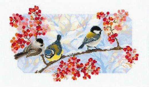 Набор для вышивания крестом Зимний день №1305 фирма Риолис
