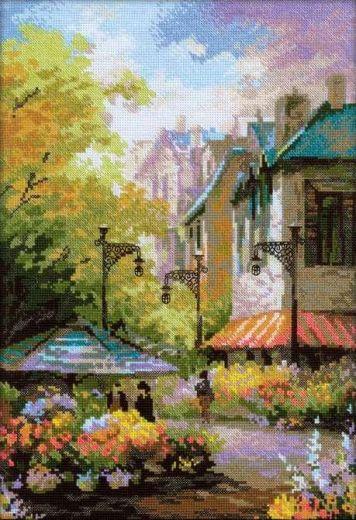 Набор для вышивания крестом Цветочная улица № 1306 фирма Риолис