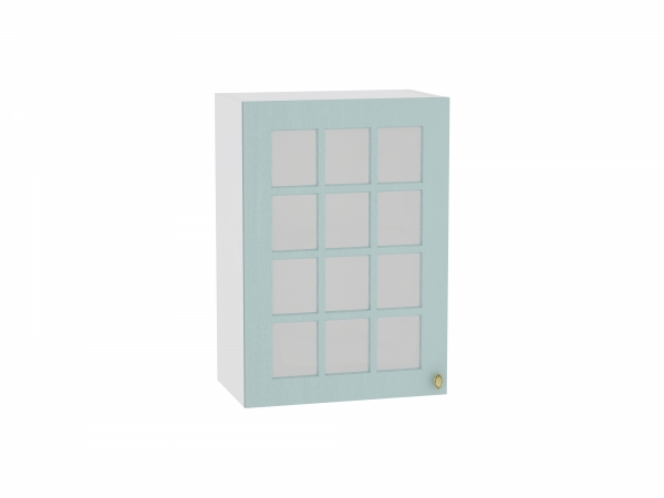 Шкаф верхний Прованс В509 со стеклом (голубой)