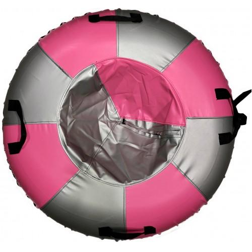 Санки-ватрушка Мега SM-245 (металлик-розовый)